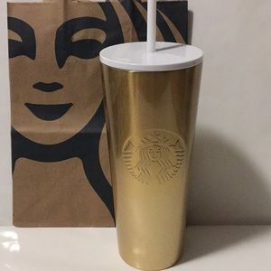 Starbucks 2019 Gold Glitter Cold Tumbler
